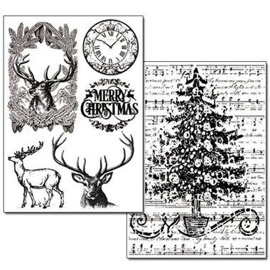 Stamperia Transfer Paper A4 Christmas- DFTR050