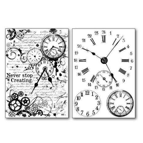Stamperia Transfer Paper A4 Clock Mechanisms  - DFTR065