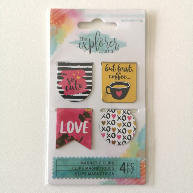 The Explorer Journal Metal Magnetic Clips  - 4 in total double sided