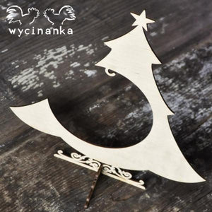 Wycinanka Christmas Bauble Tree - 3mm Ply Wood