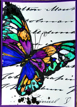 Load image into Gallery viewer, A5 Mixed Media Butterfly Stamp  - Digital Download