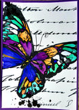 A5 Mixed Media Butterfly Stamp  - Digital Download