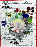 A5 Mixed Media Flower Script Stamp  - Digital Download