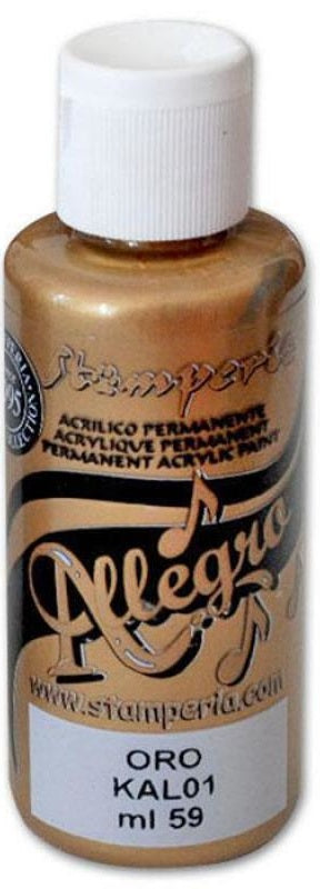 Stamperia Metallic Allegro Paint - 59ml, Art & Craft Paint by The Craft House