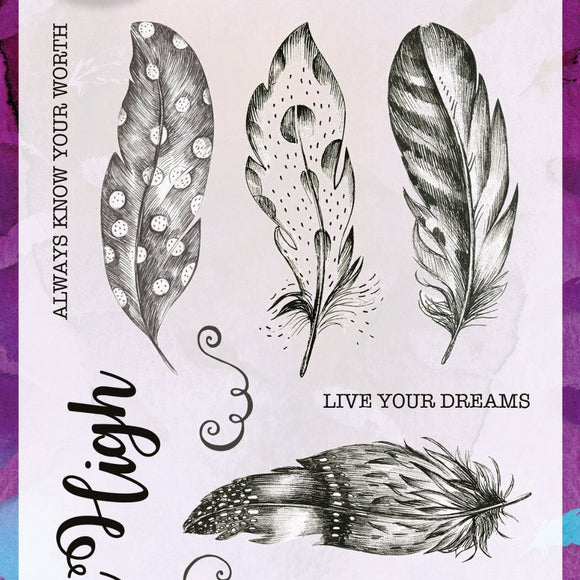 Becky Seddon Designs 'Live Your Dreams' A6 Clear Stamp Set