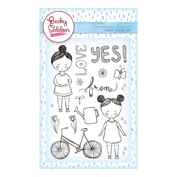 Becky Seddon Designs 'Sweetest Sisters' A6 Clear Stamp Set - DaliART