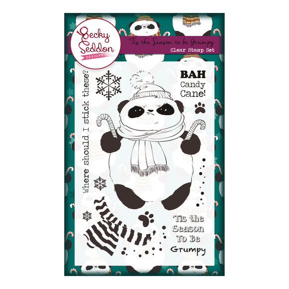Becky Seddon Designs 'Tis the Season to be Grumpy' A6 Clear Stamp Set - DaliART