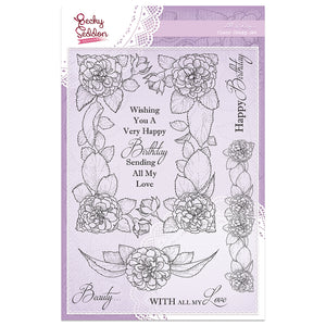 Becky Seddon Designs 'All is Rosy' A5 Clear Stamp Set - DaliART
