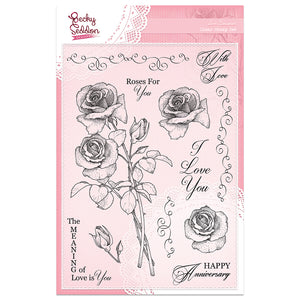 Becky Seddon Designs 'Love Bouquet' A5 Clear Stamp Set - DaliART