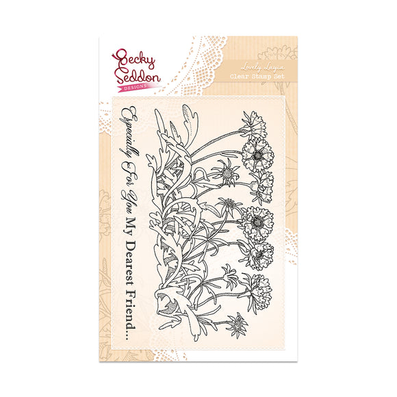 Becky Seddon Designs 'Lovely Layia' A6 Clear Stamp Set