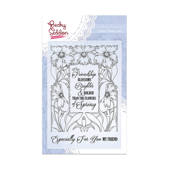 Becky Seddon Designs 'Friendship Blossoms' A6 Clear Stamp Set