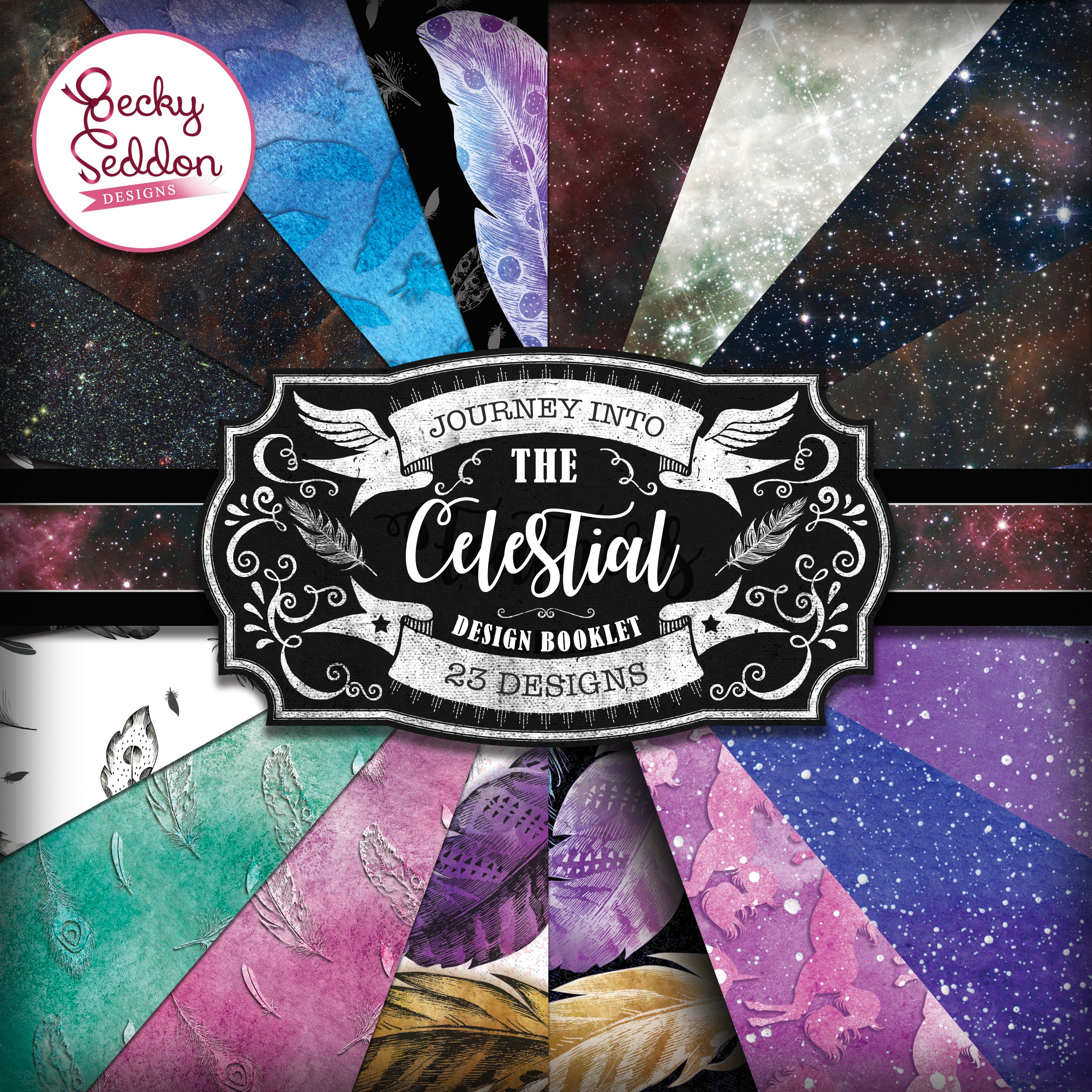 Becky Seddon Designs 'Journey into the Celestial' Design Booklet, Media by The Craft House