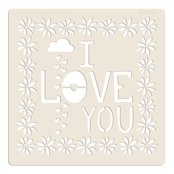 Becky Seddon Designs 'I Love You' 7