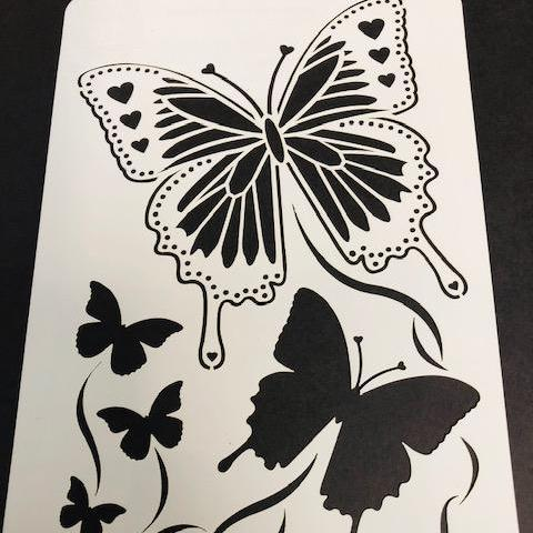 Becky Seddon 7 x 5 Stencil - Magical Monarch - DaliART