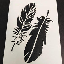 Load image into Gallery viewer, Becky Seddon 7 x 5 Stencil - Feathers - DaliART
