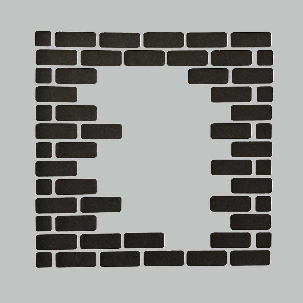 DaliART Stencils - Brick Wall Edging - 5x5