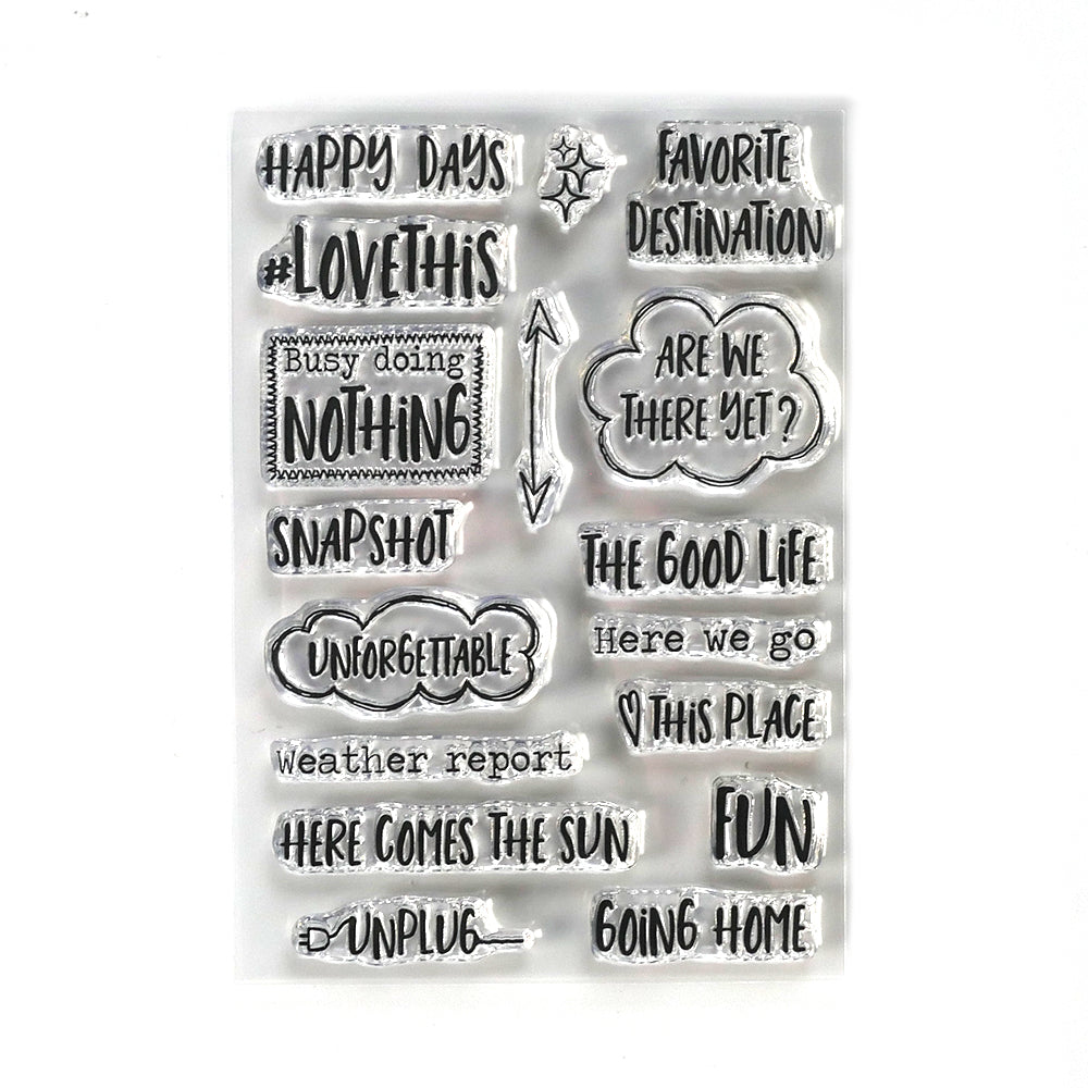 ECD Planner Essentials Destination Phrases Stamps- CS191, Arts & Crafts by The Craft House