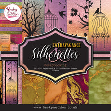 Load image into Gallery viewer, Becky Seddon 'Extravagance and Silhouettes' Scrapbooking Stack - DaliART