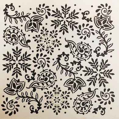 DaliART Stencils - Indian Snowflakes - 7x7