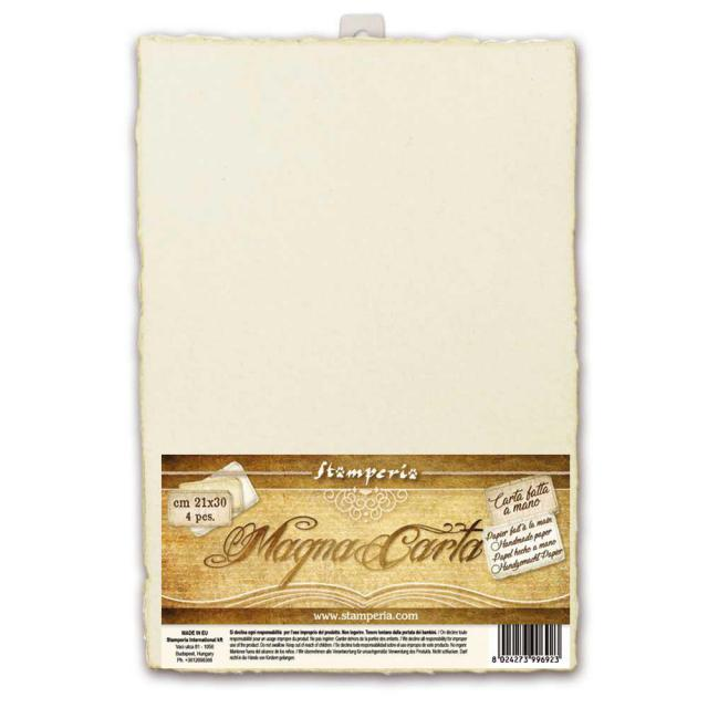 Magna Carta Set of 4 Handmade Sheets - 21 x 30cm - Ivory - DaliART