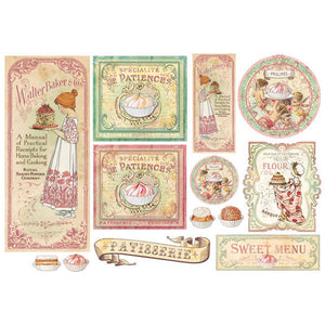 NEW Stamperia 48x33cm Decoupage Rice Paper - Baking