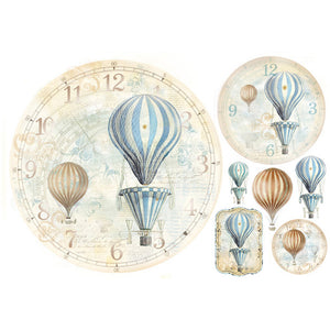 NEW Stamperia 48x33cm Decoupage Rice Paper - Balloon - DaliART