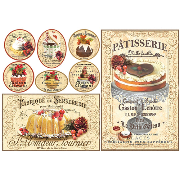 NEW Stamperia 48x33cm Decoupage Rice Paper Patisserie- DFS339 - DaliART