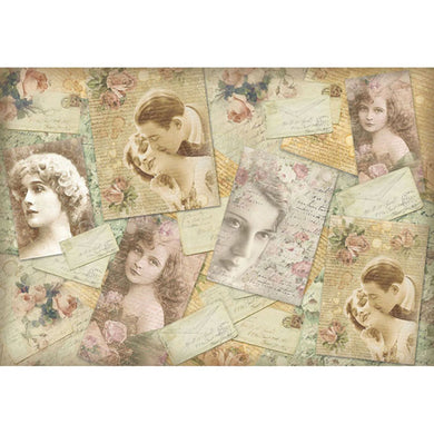 NEW Stamperia 48x33cm Decoupage Rice Paper - Love Letters - DaliART