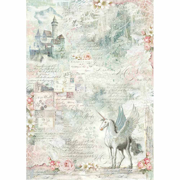 NEW Stamperia Decoupage Rice Paper - A3 Unicorn Fantasy - DaliART