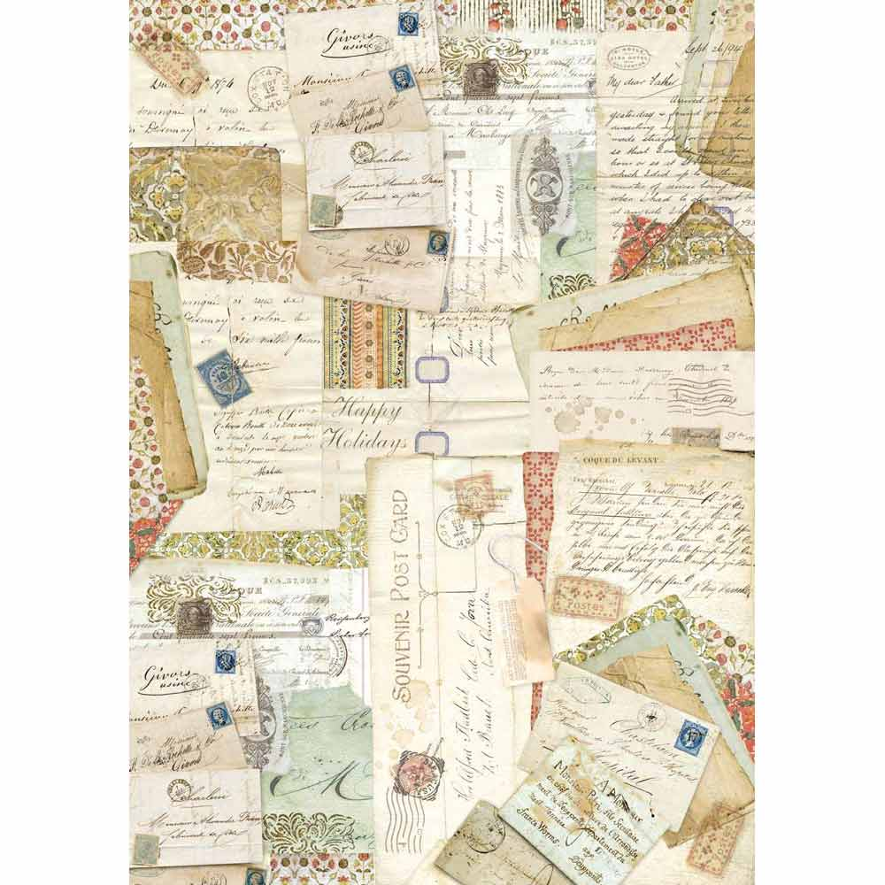 Stamperia Decoupage Rice Paper - A3 Postcards, Art & Craft Paper by The Craft House