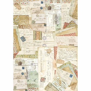 NEW Stamperia Decoupage Rice Paper - A3 Postcards - DaliART