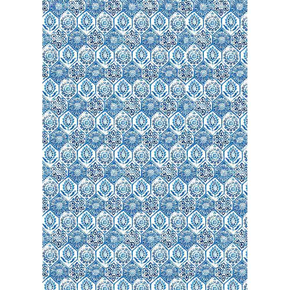 NEW Stamperia Decoupage Rice Paper - A3 Blue Tile - DaliART
