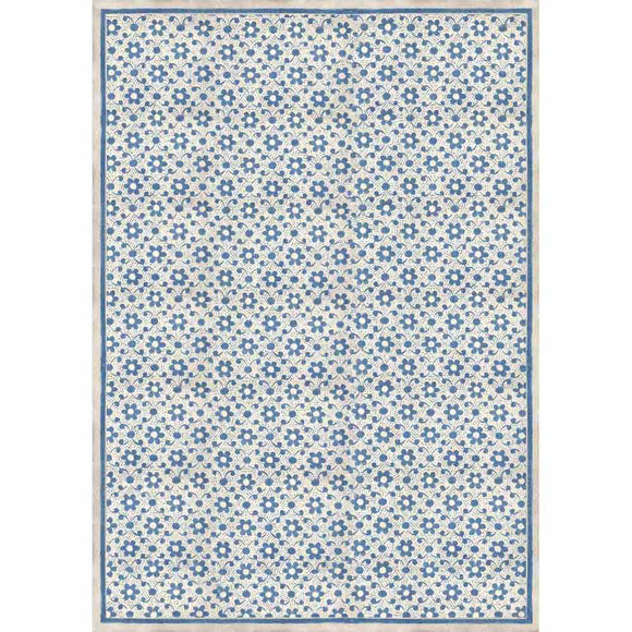 NEW Stamperia Decoupage Rice Paper - A3 Texture with Blue Flowers - DaliART