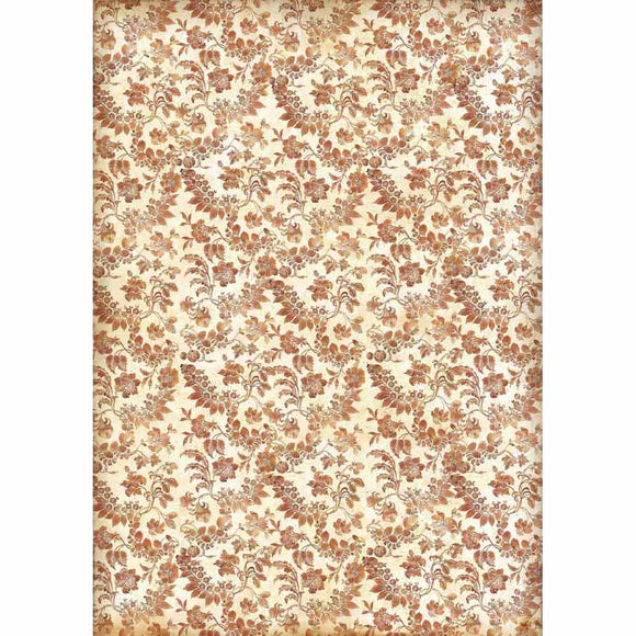 NEW Stamperia Decoupage Rice Paper - A3 Wallpaper with Flowers - DaliART
