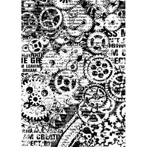 Stamperia A4 Decoupage Rice Paper - Gears- DFSA4171