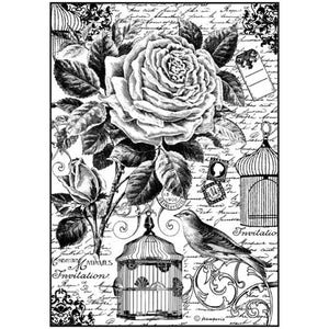 Stamperia A4 Decoupage Rice Paper - Bird Cage
