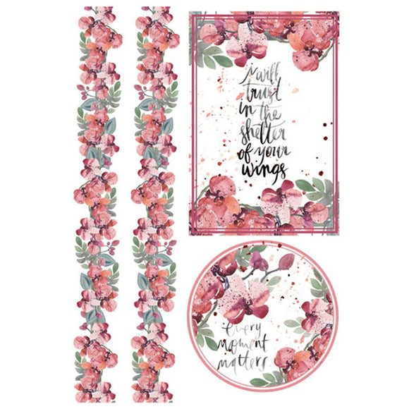 Stamperia A4 Decoupage Rice Paper - Every Moment Matters- DFSA4213