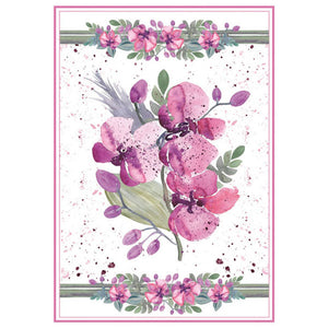Stamperia A4 Decoupage Rice Paper - Violet Bouquet