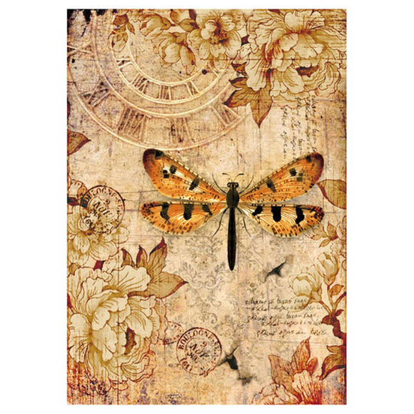 NEW Stamperia A4 Decoupage Rice Paper - Mix Media DragonFly - DaliART