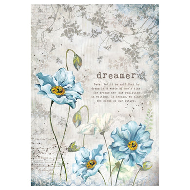 NEW Stamperia A4 Decoupage Rice Paper - Dreamer - DaliART