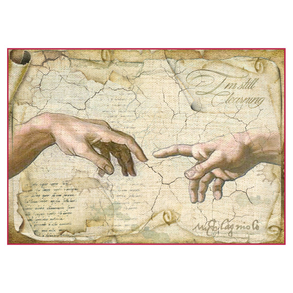 NEW Stamperia A4 Decoupage Rice Paper -  Da Vinci Hands - DaliART