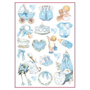 NEW Stamperia A4 Decoupage Rice Paper -  Baby Boy - DFSA4292 - DaliART