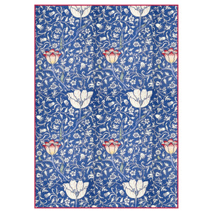 NEW Stamperia A4 Decoupage Rice Paper - Deep Blue Paisley Flowers - DFSA4300 - DaliART