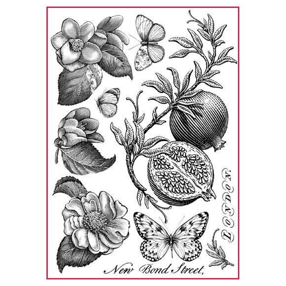 NEW Stamperia A4 Decoupage Rice Paper - Garden Fruits - DFSA4302 - DaliART