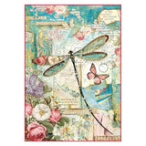 NEW Stamperia A4 Decoupage Rice Paper -  Wonderland Dragonfly -DFSA4309 - DaliART