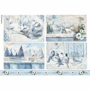 NEW Stamperia A4 Decoupage Rice Paper - Blue Land Landscapes DFSA4339 - DaliART
