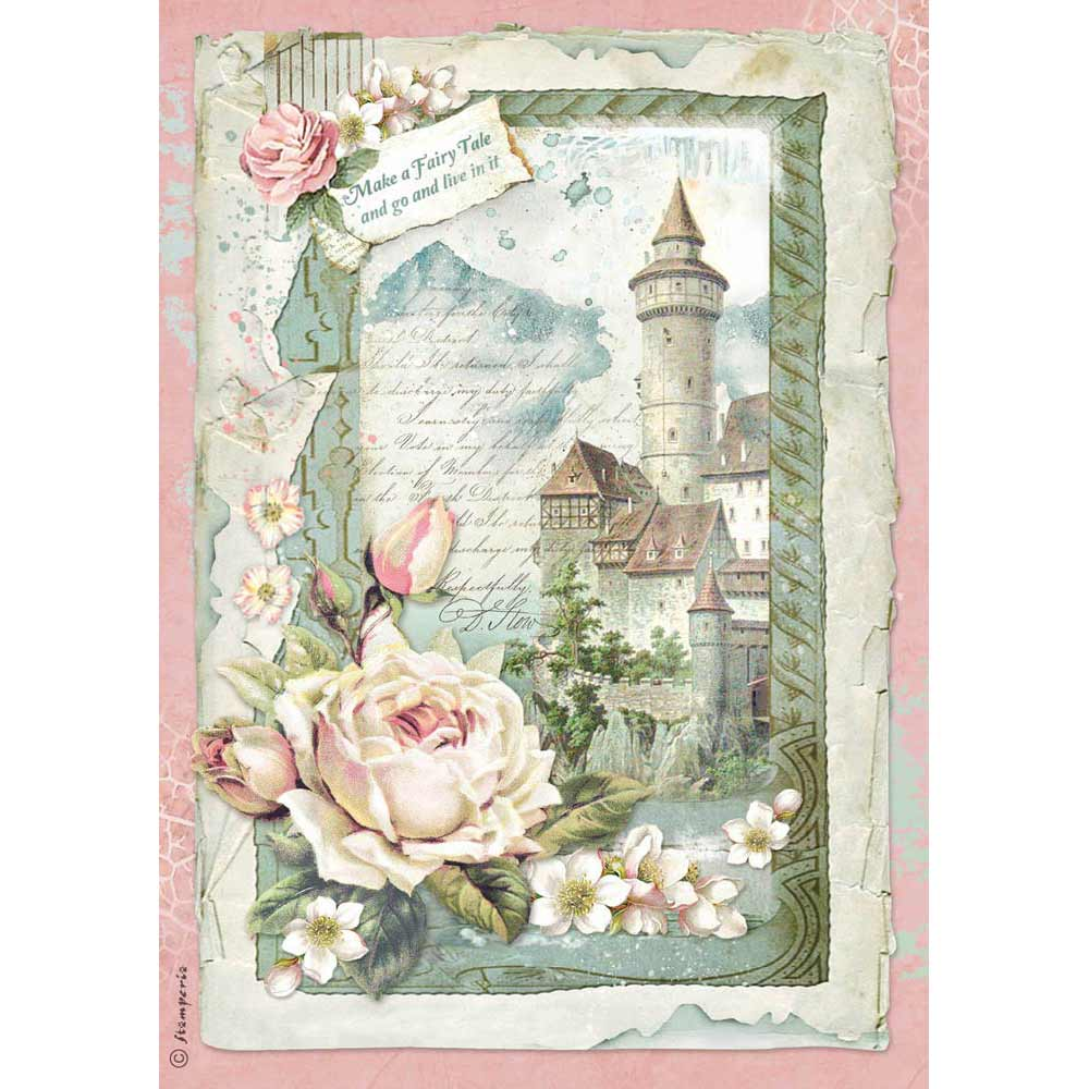 NEW Stamperia A4 Decoupage Rice Paper - Castle - DaliART
