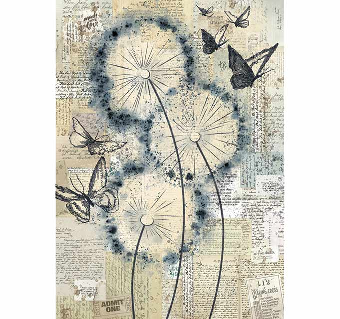 NEW Stamperia A4 Decoupage Rice Paper - Blowing in the Wind DFSA4374 - DaliART