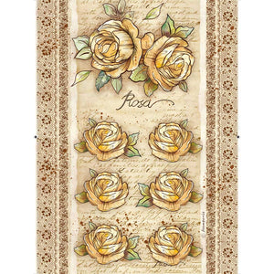 NEW Stamperia A4 Decoupage Paper Roses and Flowers 2 DFSA4380 - DaliART