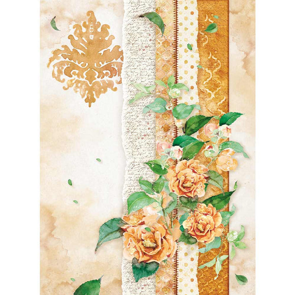 Stamperia A4 Rice Paper - Flowers For You - DFSA4416